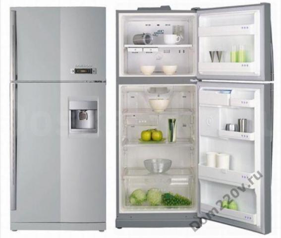 Продаю холодильник Daewoo, 2-х камерный, однокомпрессорный, управление электронное, No Frost  Продаю холодильник Daewoo, 2-х камерный, однокомпрессорный, управление электронное, No Frost, антибактериальное покрытие, диспенсер для воды. Габариты: 180,9 х 75,7 х 75. Морозильная камера сверху. Объём холодильной камеры- 351, морозильной -125.