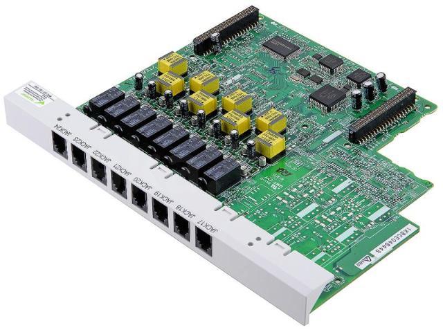 Плата расширения внутренних аналоговых линий (0х8) для kx-tes824, kx-tem824. Позволяет дополнительно подключить к мини-атс 8 внутренних линий. На внутренние линии можно подключать только аналоговые телефоны. Возможна установка только одной платы  kx-te82474