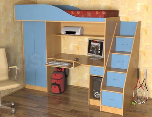 Продам детскую мебель для мальчика. использовали 1 год. В связи с ненадобностью. В поло разобранном виде. В отличном состоянии. Возможен торг. можно с матрасом.