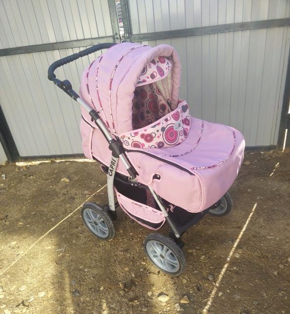 Продаю детскую коляску трансформер зима- лето, ручка перекидная регулируется по высоте, 3 положения спинки, сменный столик, чехол на ножки, москитная сетка, дождевик в комплекте