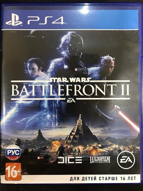 Продам диск Star Wars Battlefront II для PS 4. Диск в отлично состоянии. Или обмен на COD WW II или Assasin`s Creed Origins