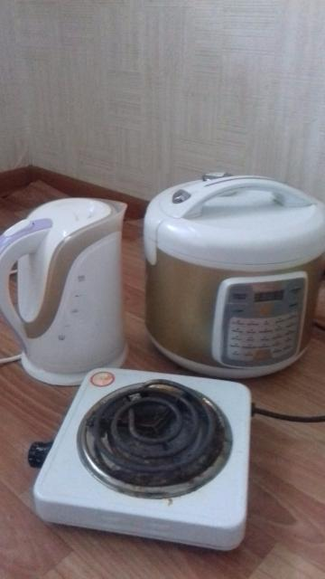 Срочно в связи с переездом продам многофункциональную мультиварку чайник и плитку(1комфорочная)в хорошем состоянии