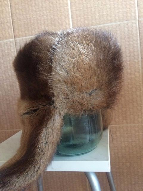Мужская  ондатровая шапка-ушанка , разм 57