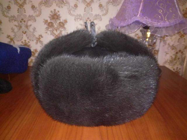 норковая шапка, ушанка , р 58