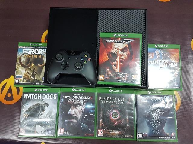 Продаю приставку Xbox One 500gb 1джой +7 дисков и код загрузки BF1