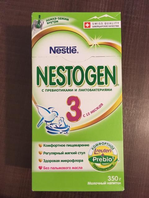 Нестожен-3 с 12-ти месяцев 350 г. Без пальмового масла. С пребиотиками и лактобактериями. Желательна консультация со специалистом. Срок до 16. 07. 2018 года.