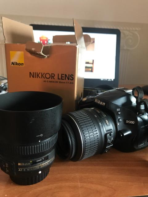 Срочно продаю Nikon D5100 полупроф. Обьетив 18-55 и полтинник nikkor 50mm 1.8G