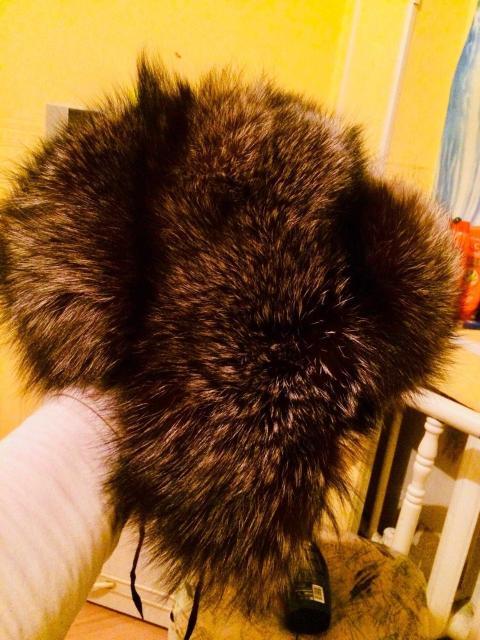 Продаю новую шапку ушанку из натуральной чернобурки,или обменяю на телевизор