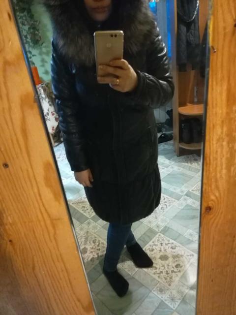 Натуральное кожаное пальто, с капюшоном отделка чернобурка, демисезон-зима со съёмный жилетом, размер 42-46 за 4000 тыс