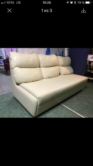 Срочно! Офисный диван , кожа, подушки, мягкий. По срочной цене