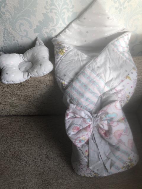 Продам детское одеяло с бантиком в отличном состоянии и подушкой (можно использовать как конверт) пользовались немного.