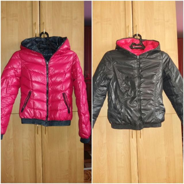 Продаю женскую куртку в отличном состоянии размер 44-46, двухсторонняя.