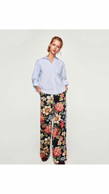 Рубашка новая Zara, этикетка имеется, разм 46 , небесно-голубого цвета.