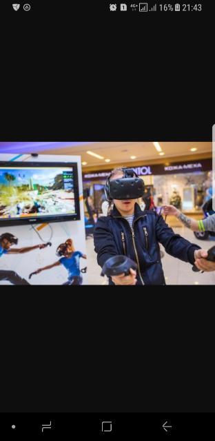 Продам атракцион виртуальной реальности. Htc vive. Около 100игр.  Заработок от 100тыс в месяц. Полный комплект даже банер рекламный.