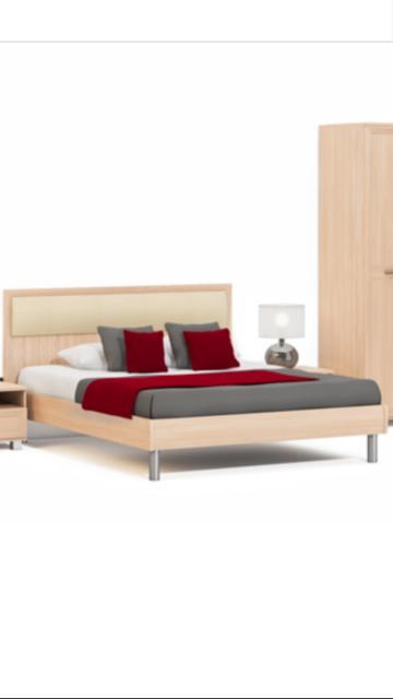 Продаю в отличном состоянии двухспальную кровать размером 1600X2000 с матрасом и двумя прикроватными тумбочками, в подарок отдам чехол водостойкий для матраса. Цена: 28 000 торг.