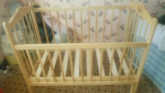 Кровать детская 120 на 60 см в хорошем состоянии
