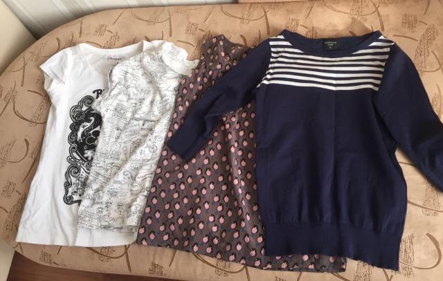 Продаю пакет с вещами, 2 футболки, майка и кофта размер S, б/у в отличном состоянии 💁🏻♀️