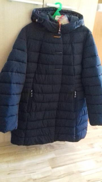 Новая куртка. Синтепон. 54 размер. Цвет синий. С этикеткой. Совсем новая. Цена 8000 руб.