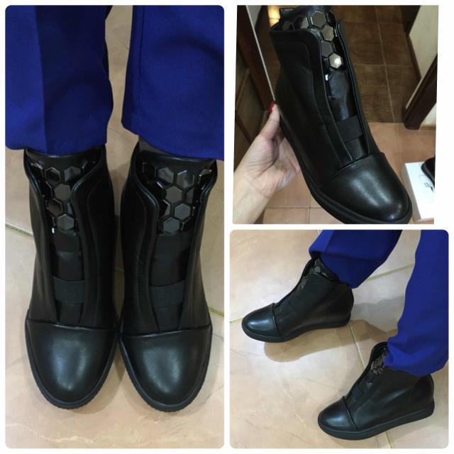 Новые ботинки из кожезаменителя, размер 37-й на узкую ногу