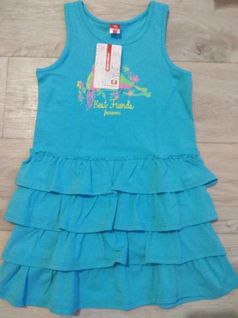 Продаю детскую одежду отличного качества, футболки, платья, комплекты размеры на рост от  86-134.