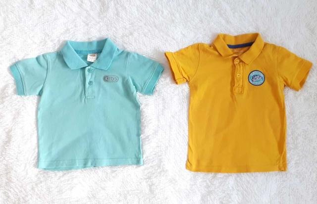 Б/У футболки поло для мальчиков в хорошем состоянии.18-24 мес,92 см .Оба за 300 рб.