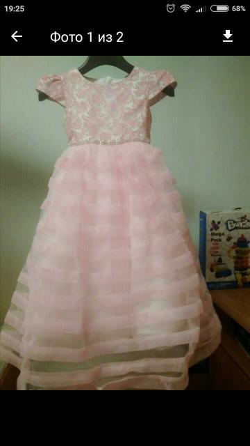 На рост 104 , Jansone , пышное нежное платье для Вашей Принцессы 👑