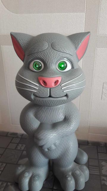 Музыкальный кот, поет много детских песен, рассказывает сказки. При пении песен, глаза горят разными цветами