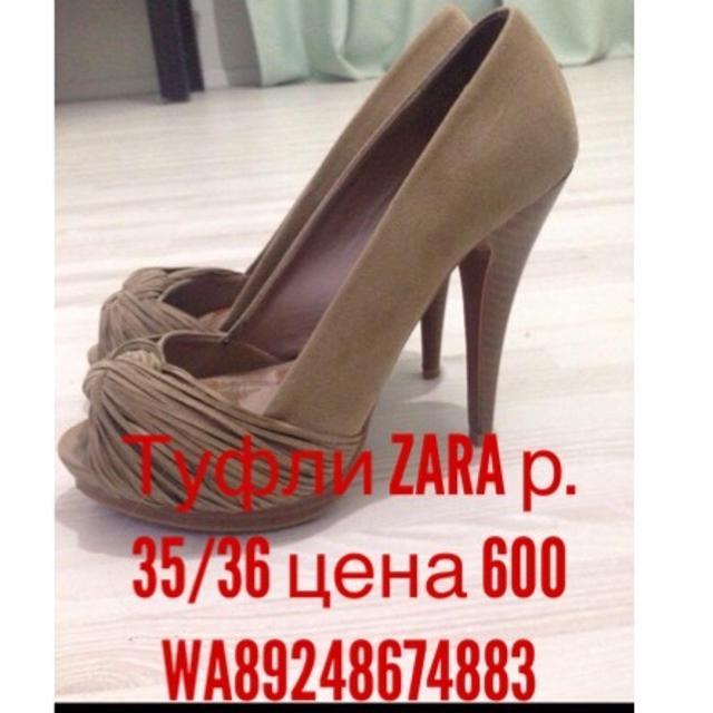 Продам туфли Zara в отличном состоянии 35/36 цена 600