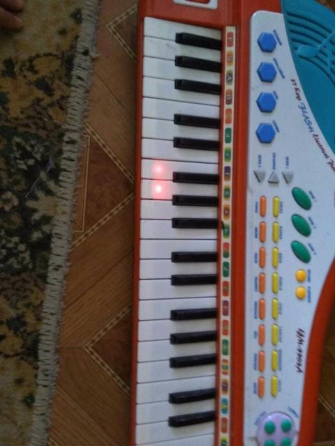 Гайды, подсветка клавиш, регуляция звука, изменение звучания по музыкальным инструментам, запись, музыкальные эффекты. Отличная игрушка. Питание от сети.