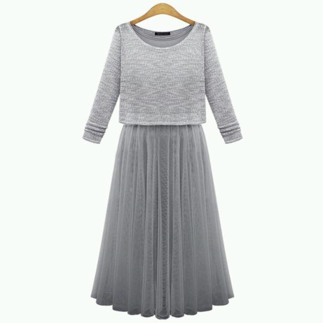 Платье-двойка новое. Осталось серое, размер 42-44. Самовывоз/доставка 150