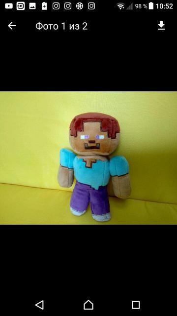 Продаю новые майнкрафт игрушки. человек Стив, Зомби. Каждая по 250р. В магазине 500р.