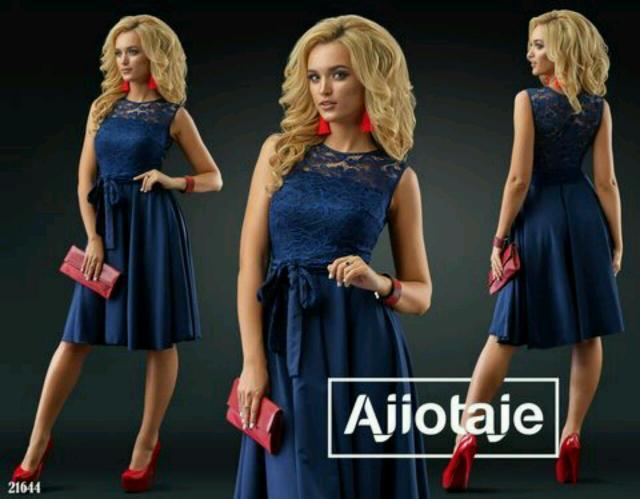 Продаю новое платье 44-46 рр темно синего цвета