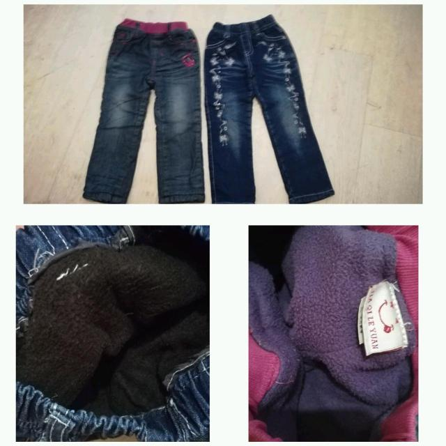Утепленные джинсы на девочку 2-4 года. Каждая по 450 р