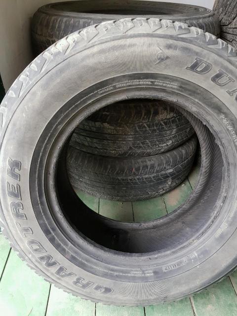 Срочно продам резину б/у  Dunlop M+S, 275/65/17 (1 шт.) и Dunlop M+S, 265/65/17 (3 шт.). Если поштучно - 1,5 тыс. руб за 1 шт.