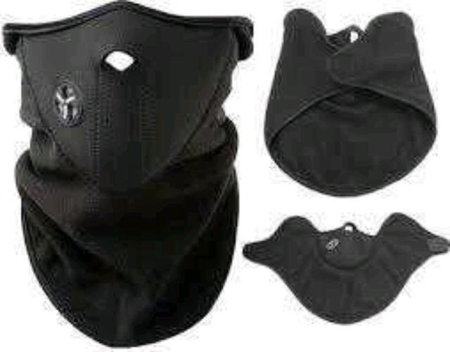 Защитная неопреновая маска позволяет защитить лицо,уши и шею в холодную погоду.Прорезь для носового дыхания позволяет исключить запотевание под маской.Легкая,теплая,эластичная,безразмерная(застежка -липучка). Подходит не только для мото,и вело-спорта,но так же для сноуборда,зимних видов спорта,охоты,рыбалки и т.д. Наличие цветов необходимо уточнить перед покупкой.