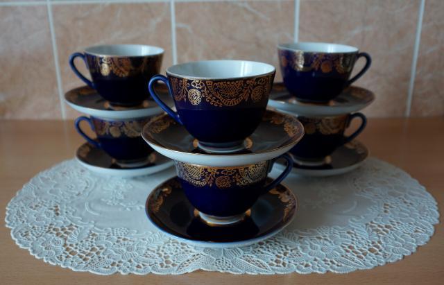 Для ценителей советских раритетов. 6 чайных пар пр-ва Ленинградского фарфорового завода. Были произведены на экспорт. В идеальном состоянии, не использовались, витринное хранение.