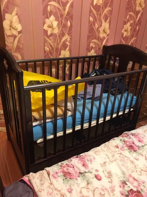 Продаётся детская кровать коричневого цвета