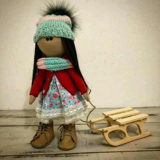 """*Интерьерная текстильная кукла Снежка. Ручная работа. Рост-30см.                     TM """"Woodywork.ykt"""" Цена-1700₽.Самовывоз WhatsApp-89142892991*"""