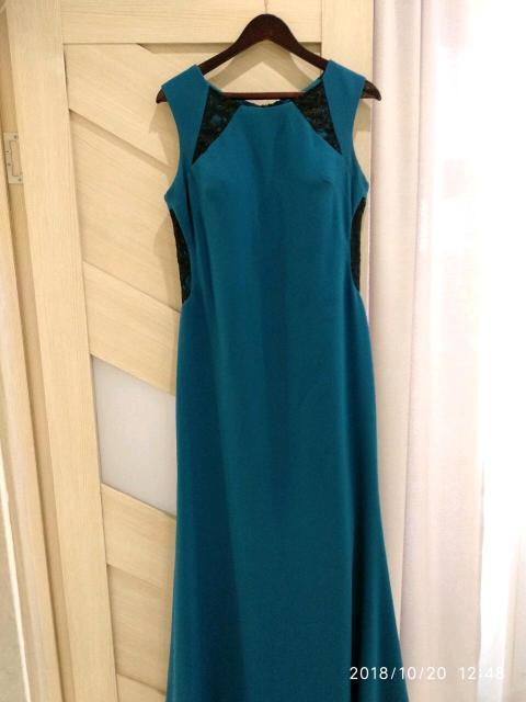 Платье вечернее в пол со шлейфом, в отличном состоянии, размер 48, фото по ватсап, цена 1600руб.