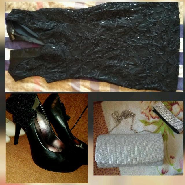 Платье от LOVEREPUBLIC размер 42 туфли 38 чокер и клатч