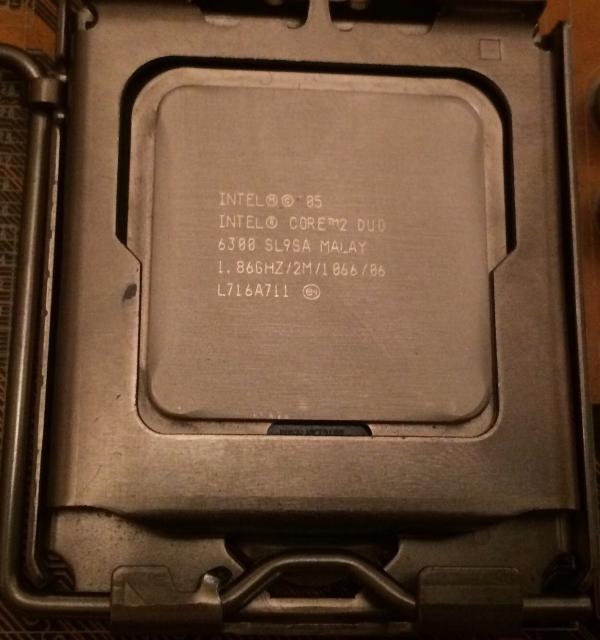 Продаю процессор Intel Core 2 Duo E6300, 2-Ядра, частота 1.86GHz, сокет 775. Любые проверки! Возможна доставка! Звоните 89142275937, или обращайтесь в whats app!