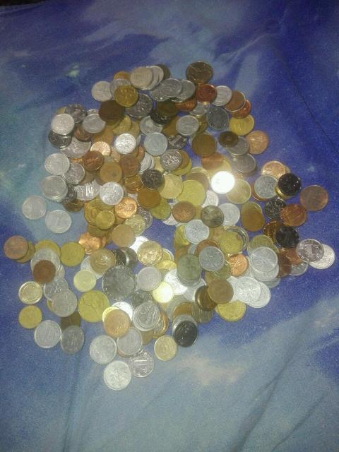 Куча иностранных монет