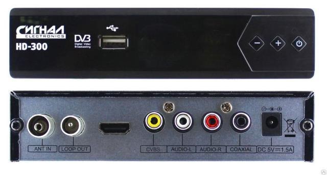 Ресивер эфирный цифровой DVB-T2 HD HD-300 металл, дисплей + кнопки DOLBY DIGITAL, Сигнал 2016 Антенный вход, аудио/видео выход, HDMI, Коаксиальный цифровой аудио выход, USB-разъем (MKV, AVI, XVID, MOV, VOB, FLV, DAT, MPEG, MPG, MP4, MP3, WMA, JPEG, BMP, PNG), 20 цифровых каналов. *** Ключевые преимущества:     Поддерживает видеоразрешения до 1080p     Функция Тайм-шифт     Функция PVR     Поддержка функции ACDolby     Функция воспроизведения мультимедиа