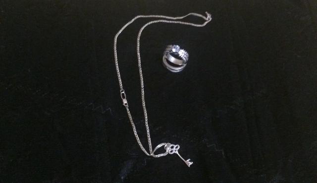 Цепочка и 2 кольца( серебро 925 пр) за 500р.