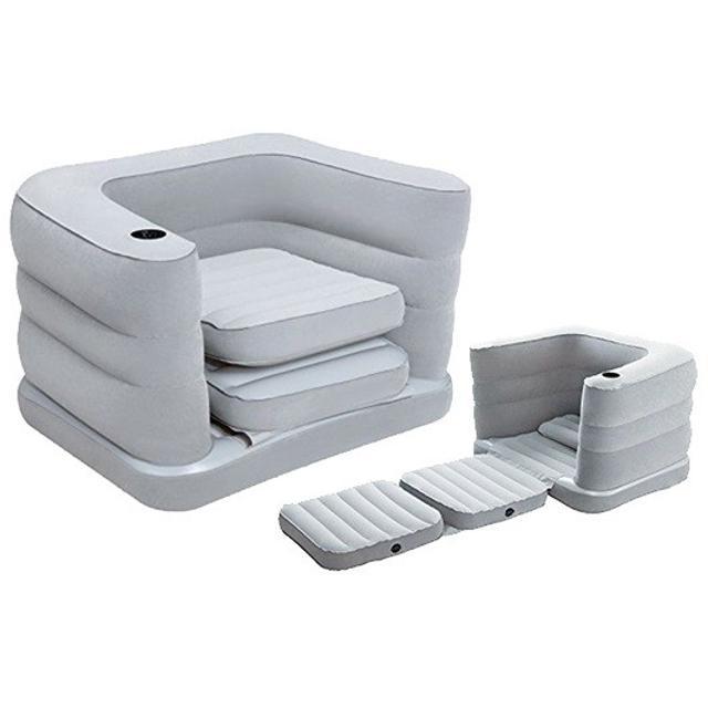 Продаю надувное кресло-кровать 2-в-1, размеры 200х102х64см, из прочного винила с велюровой поверхностью. В комплекте подушка. В сложенном состоянии удобное кресло, в разобранном состоянии комфортная односпальная кровать. В подлокотнике имеется подстаканник. имеет универсальный клапан для накачивания и сдувания – подойдет любой тип насоса: ручной, ножной, электрический. Бесплатная доставка по г. Якутску.