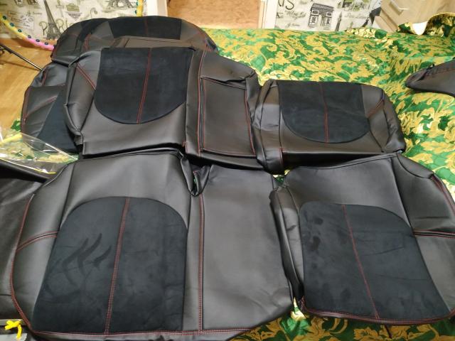 Продаю новые модельные чехлы на алеон или Премио 260 кузов, сшитые на заказ из хорошего материала (алькантара и ЭКО кожа).