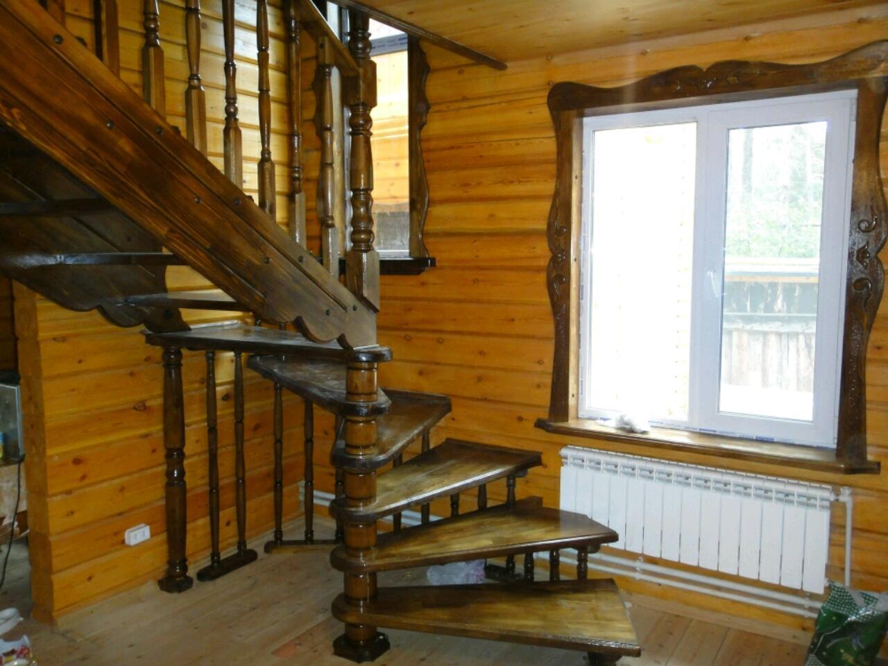 Изготовить поручень деревянный на лестнице в г Домодедово