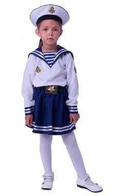 Продаю костюм морячки для девочки, ни разу не носили, рост 110см. 1600рб