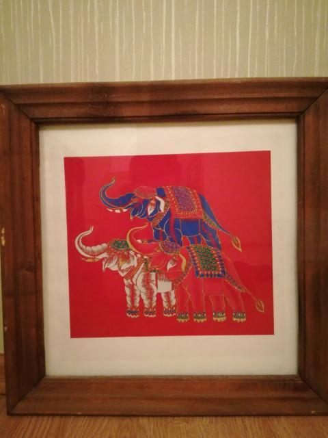 Картины в тайском стиле 4 шт., размер 44*44 см. Цена указана за 4 шт.