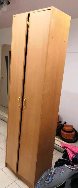 Шкаф плательный, б/у, самовывоз, ширина 60 см, глубина 34 см, высота 2,10 см